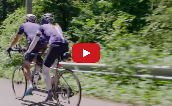 Vicarious adventures on a bicycle built for two.